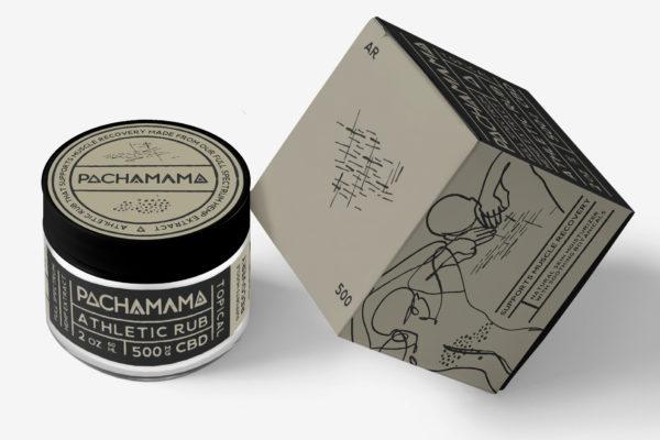 Pachamama cbd full spectrum athletic pain rub topical cream