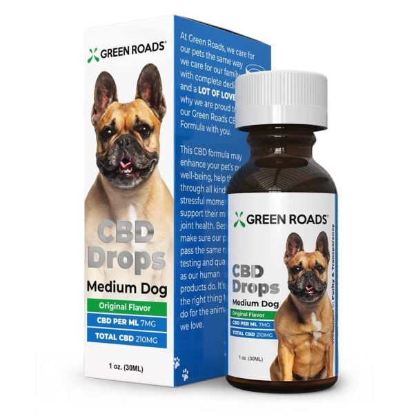 Green Road's Medium Dog CBD Oil Drops