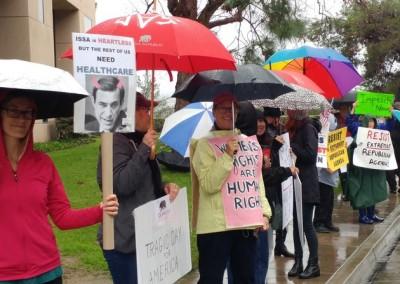 Protest at Issa office Vista