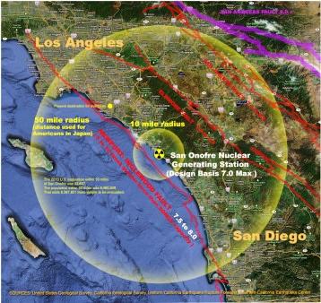 San Onofre earthquakemap