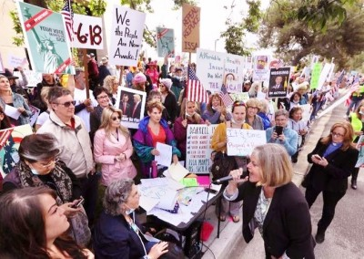protest at Issa office May 9