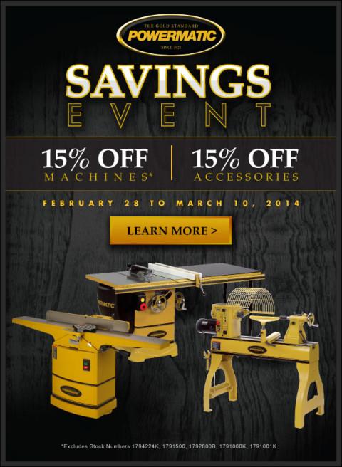 powermatic 15 off sale