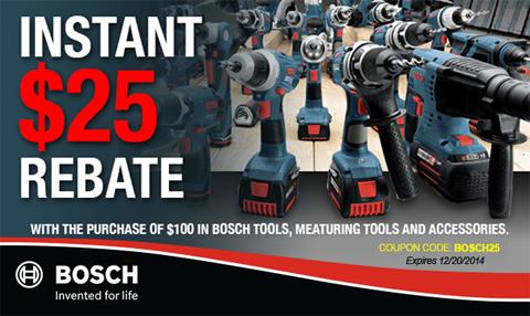 Bosch $25 Coupon