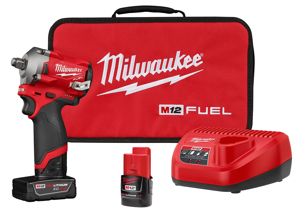 """Milwaukee M12 FUEL 3//8/"""" dr Stubby Impact Wrench 250 ft-lbs Bare Tool #2554-20"""