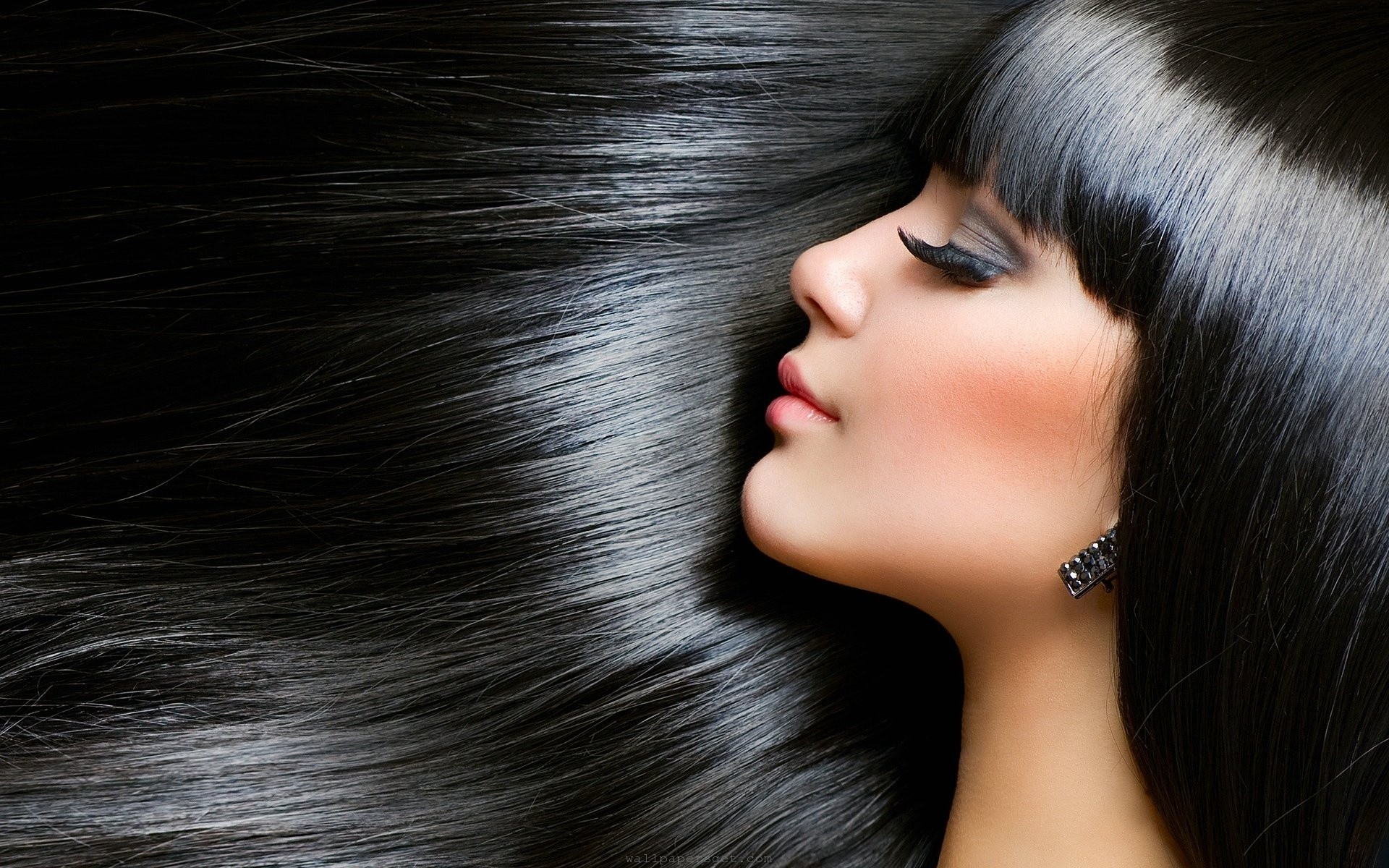 stylish elegant black hair