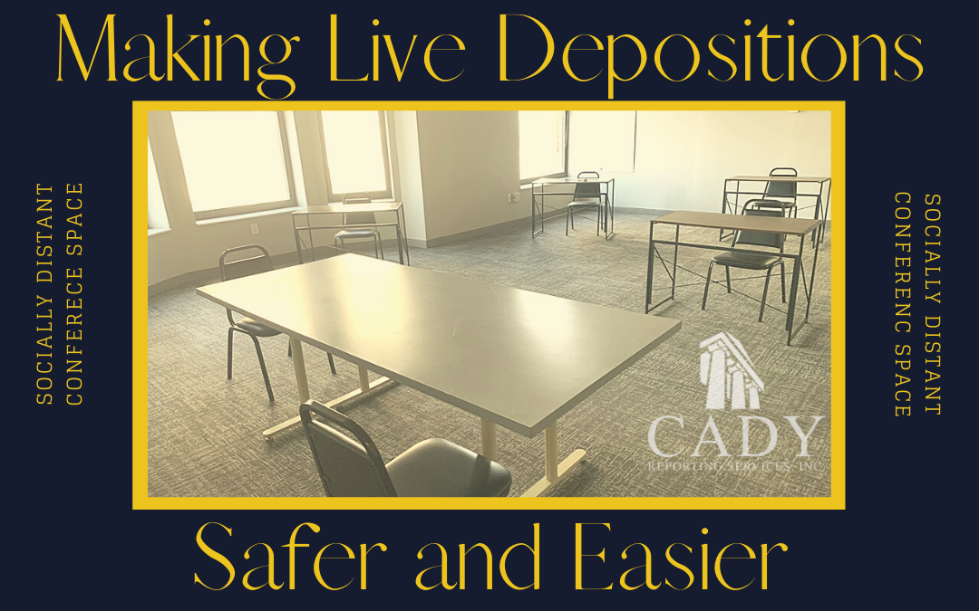 Cady Reporting Announces Socially Distant Conference Rooms