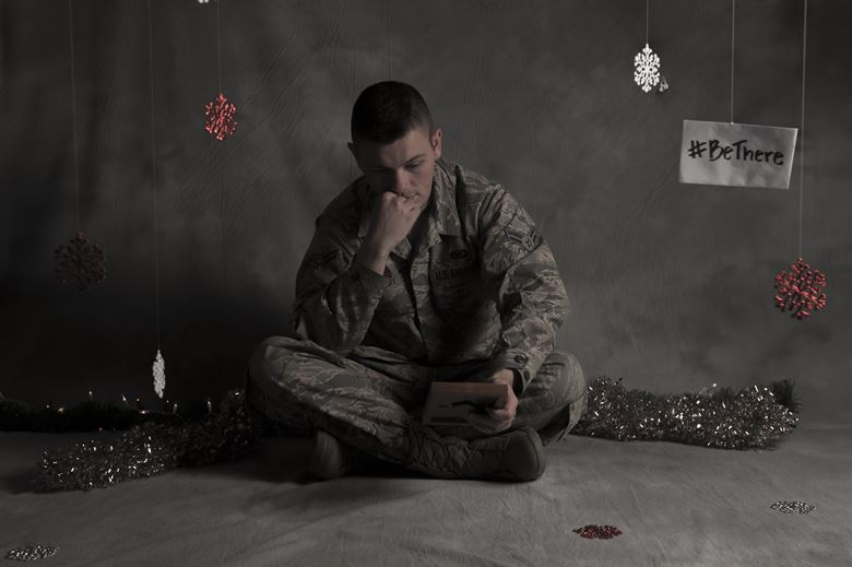 holiday blues - a soldier alone during the holidays