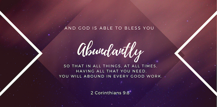 6 Verses on When God Blesses You