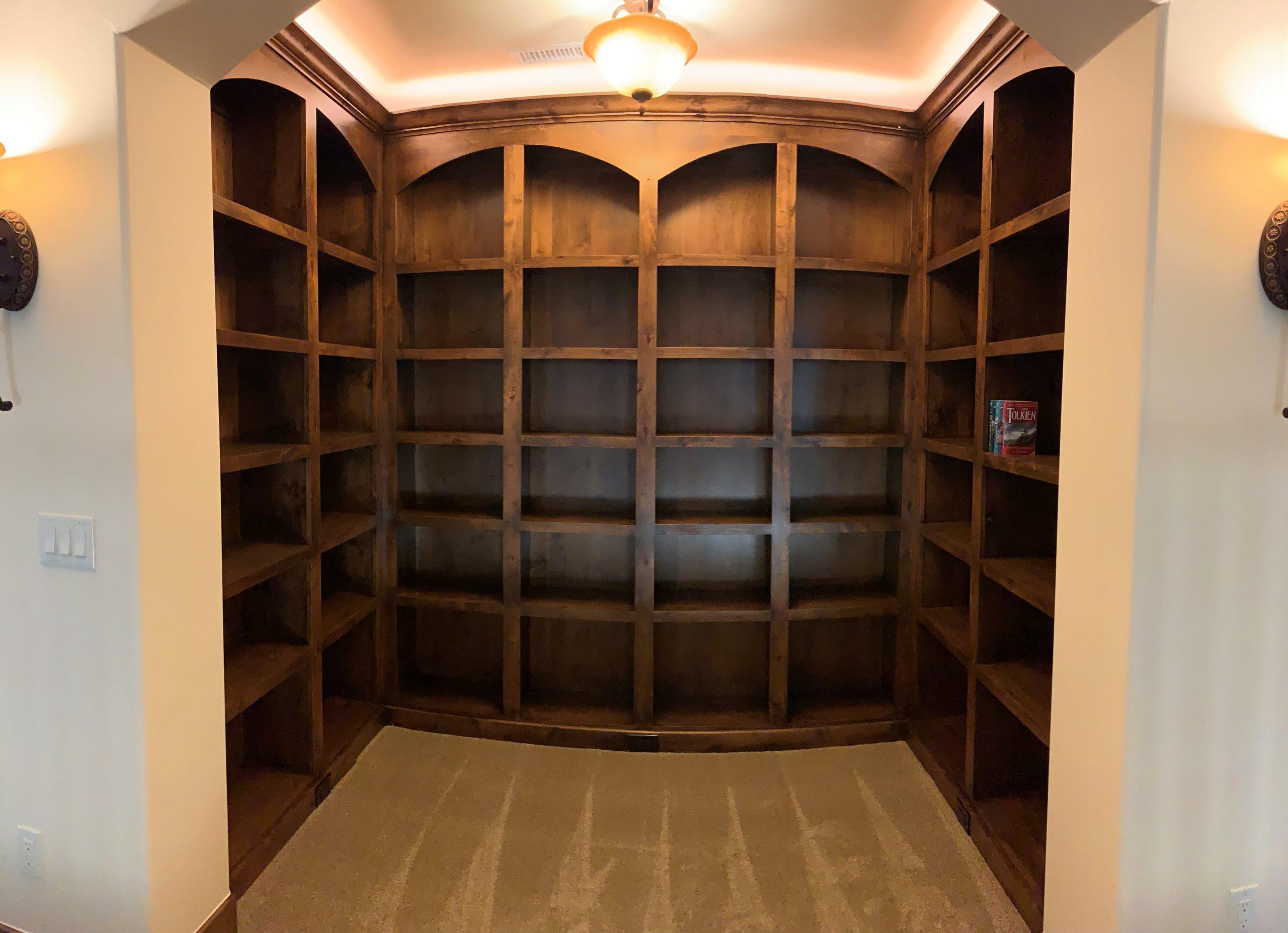 Custom Alder Shelving Bookcase