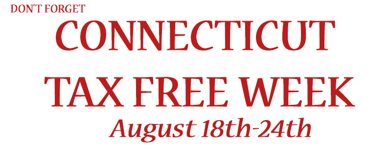 Connecticut Tax Free Week 2015