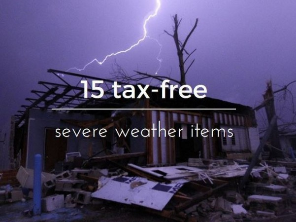 Texas Emergency Supplies Tax Free Weekend 2019
