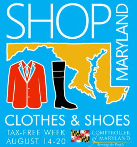 Maryland Tax Free Week 2016