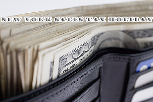 New York Sales Tax Holiday 2016 going on right now