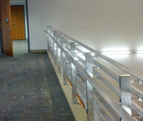 B6 Polished Aluminum Interior Railing