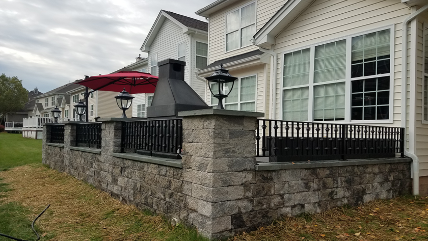 E 49 Patio Exterior Railing