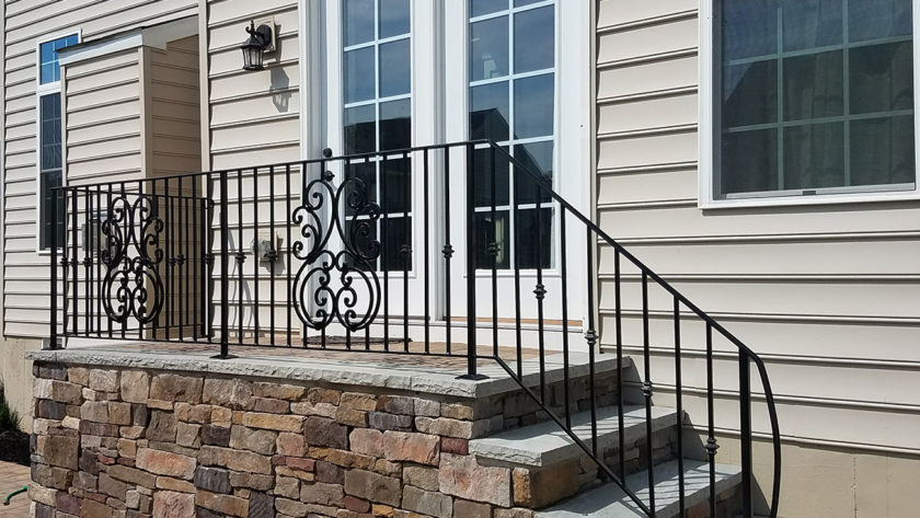 E55 Iron Railing with Scroll Work
