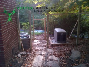 Sustainable building, fencing custom construction eco freindly
