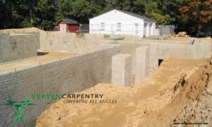 Foundation new construction renovation southern MD