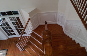 Custom Woodwork, Quality Craftsmanship, Craftsmanship, Woodworking, Annapolis, Severna Park Carpentry, Custom design, Wainscoting, quality woodworking, your design, dramatic stairway, classic entrance