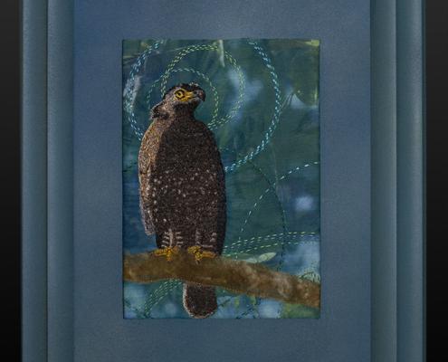 Crested Serpent Eagle by Christina Fairley Erickson