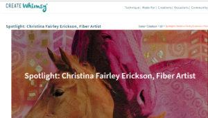 Spotlight on the Artist Interview with Christina Fairley Erickson on CreateWhimsy.com