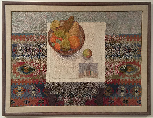 """Still-life"" by Audrey Walker 1993 includes a tribute to Marandi, a master of still-life."