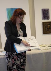 Christina shares her sketchbook of samples for making the 3D heron.