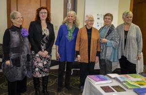 Graduates (L to R) Marilyn Olsen, Christina Fairley Erickson, Nancy Drake, Tutors Penny Peters and Gail Harker, and graduate Barbara Fox
