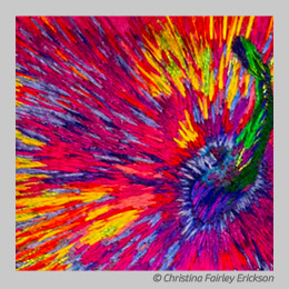 Rainbow Gourd by Christina Fairley Erickson