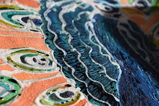 Detail of final layers with extra dye - Christina Erickson batik