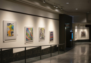 Part of the Gallery with the Natural Geometries Contemporary QuiltArt Show at the WA State Convention Center
