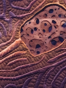 """Detail of """"Fish Skin 2"""" by Carla Stehr"""