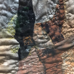 "Detail of ""Yakima River Canyon"" by Christina Fairley Erickson"
