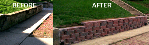 Nebraska Yard Care can build or repair your retaining wall in Omaha, NE.