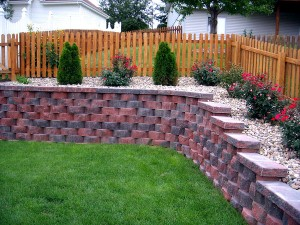 Retaining Wall & Landscaping by Nebraska Yard Care, a landscaping company in Omaha.