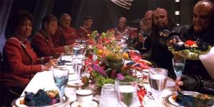 Star Trek dinner scene