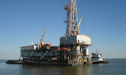 Oil and gas exploration on the Gulf Coast.