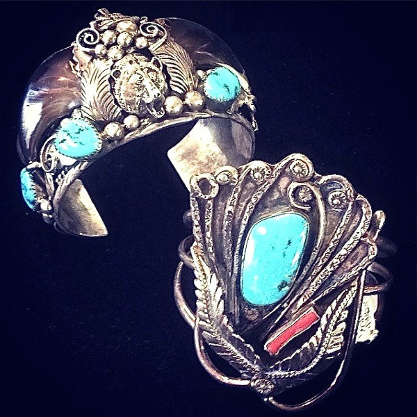 sterling turquoise ring - Native American Indian jewelry Alt