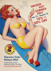 Smokin' Hot Summer Antiques Sale 10%-50% off storewide 95 eclectic dealers