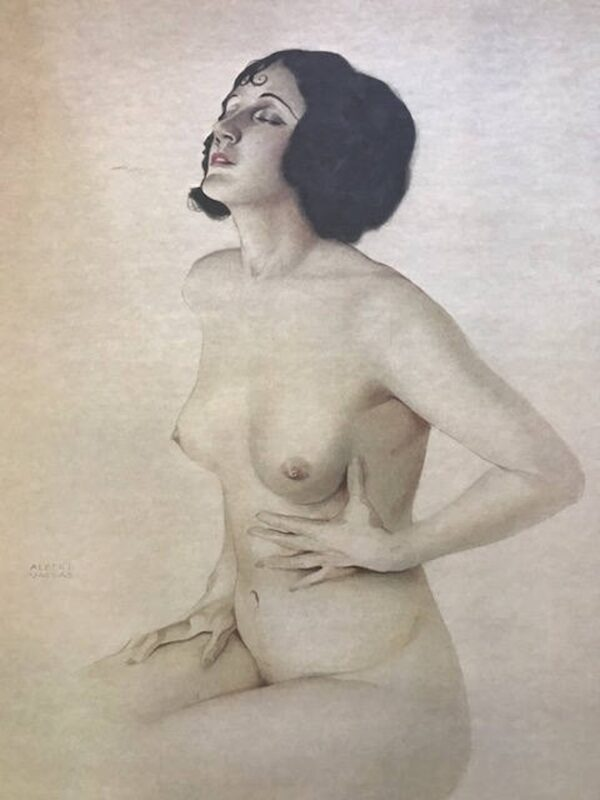 """Alberto Vargas """" Yearning"""" pin-up nude Litho c. 1978 lmt ed Tale of Two Cities , Inc"""