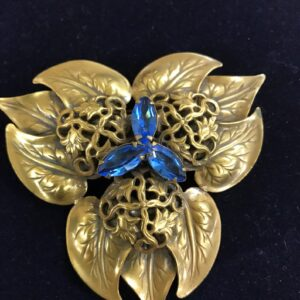 Joseff of Hollywood Original Vintage leaf brooch at the Sherman Oaks Antique Mall