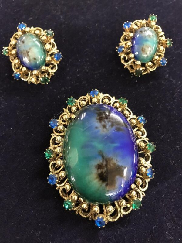 Alice Caviness Brooch & Earrings