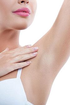 woman underarm