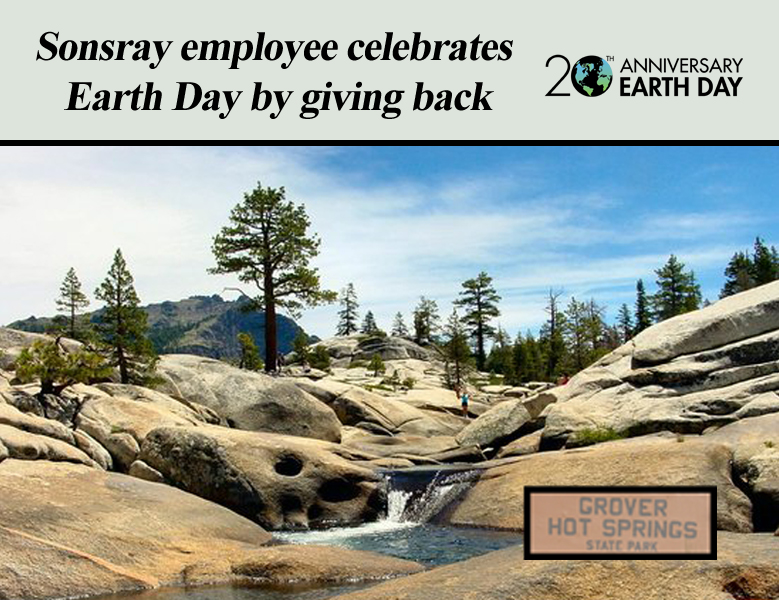 Sonsray employee celebrates Earth Day by giving back