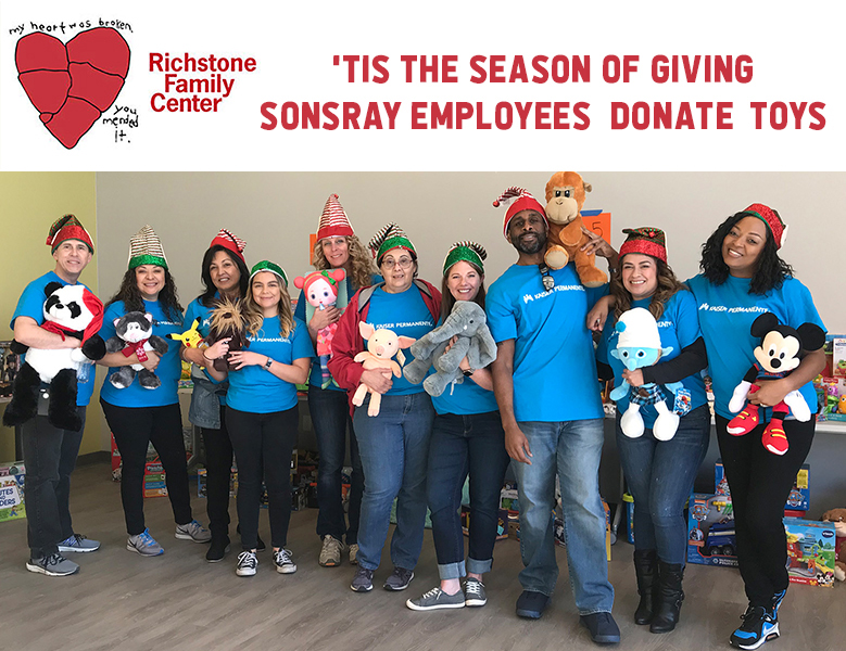 Sonsray Employees collaborate with Richstone Family Center