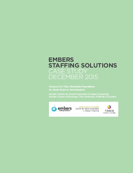 Embers Staffing Solutions: Social EnterPrize Case Study