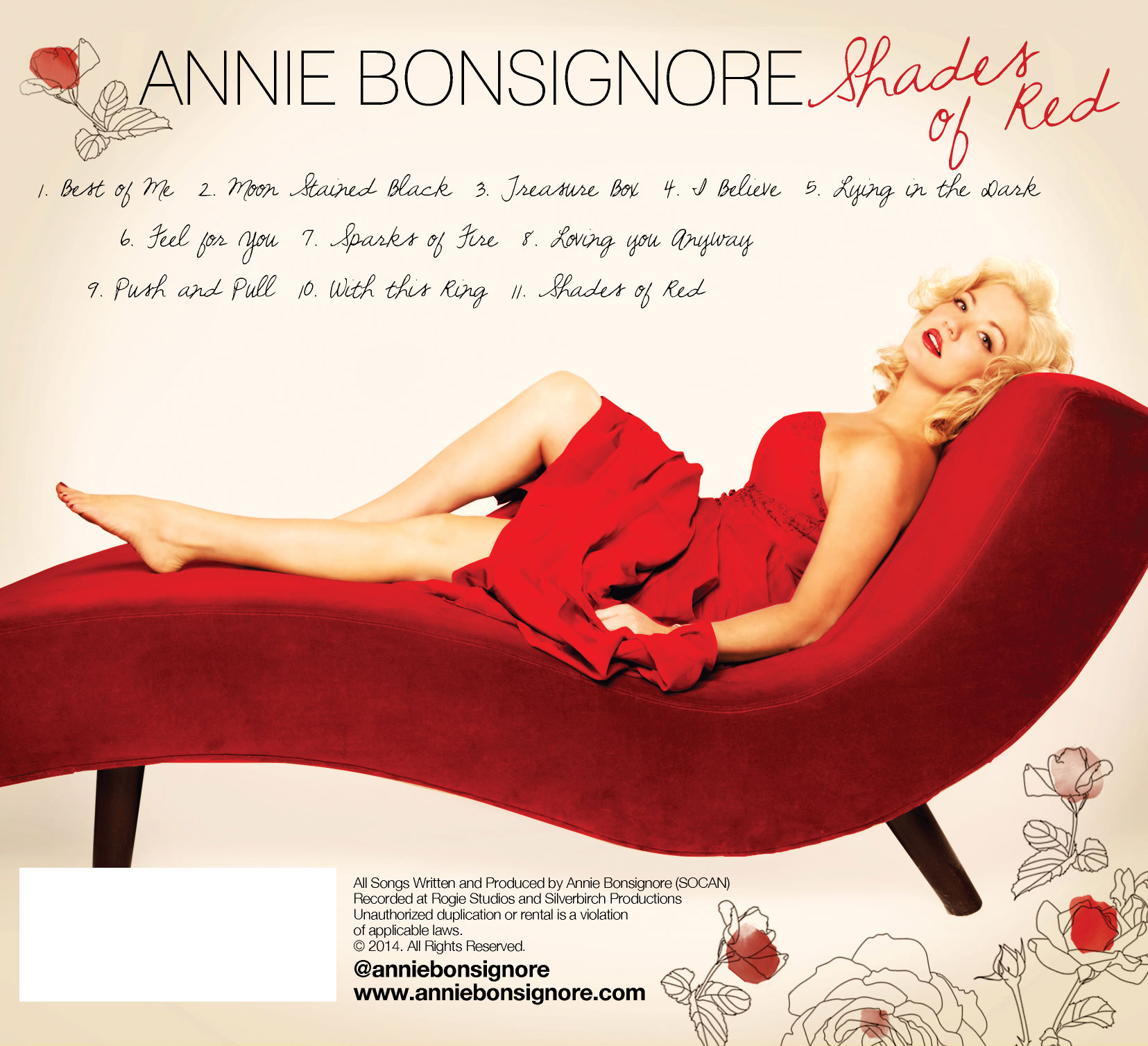 Annie Bonsignore Shades of Red Back Cover