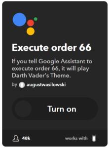 GetMeCoding.com Star Wars IFTTT Execute Order 66