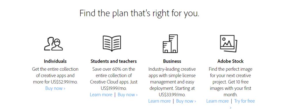 Adobe Creative Cloud Plans GetMeCoding.com
