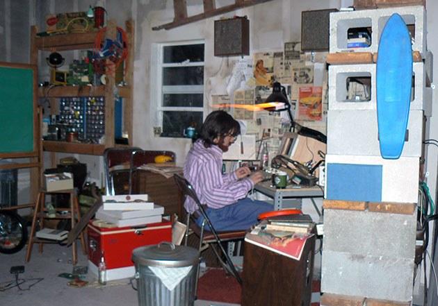 Spaceship Garage Computer Scene